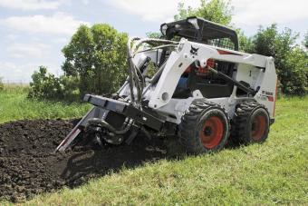 Bobcat S630 Skid-Steer Loader trenching