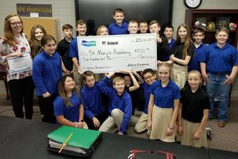 St. Mary's Academy, located in Bismarck, was awarded a $500 Doosan Discovery Grant for a STEM project focused on creating a hydraulic arm.