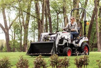Homeowner Mowing Acreage With Bobcat CT1025 Sub-Compact Tractor and Mid-Mount Mower