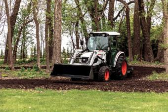 Bobcat CT5550 Compact Tractor With Tiller Implement Prepares New Path On Acreage